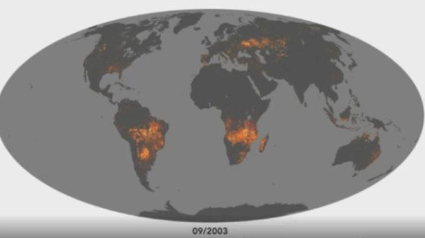 La NASA muestra cómo se ve desde el espacio el arrasador incendio de la Amazonía