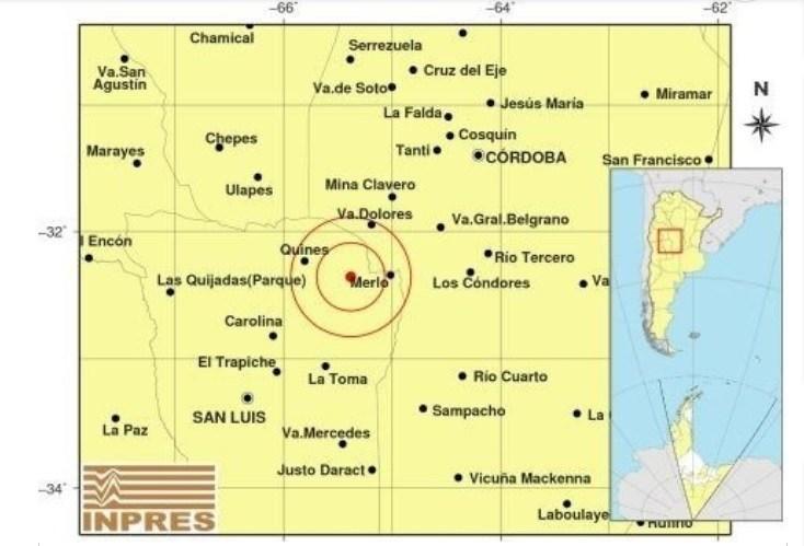 Se registró un temblor en el Valle del Conlara