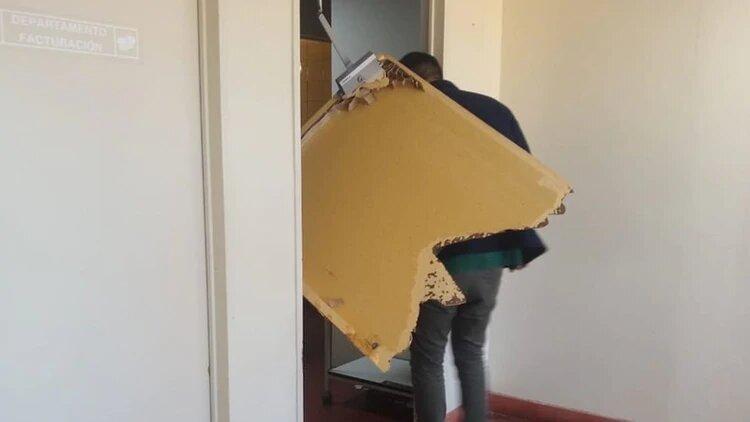 Delegados de UPCN dejaron destrozos en el Hospital Garrahan