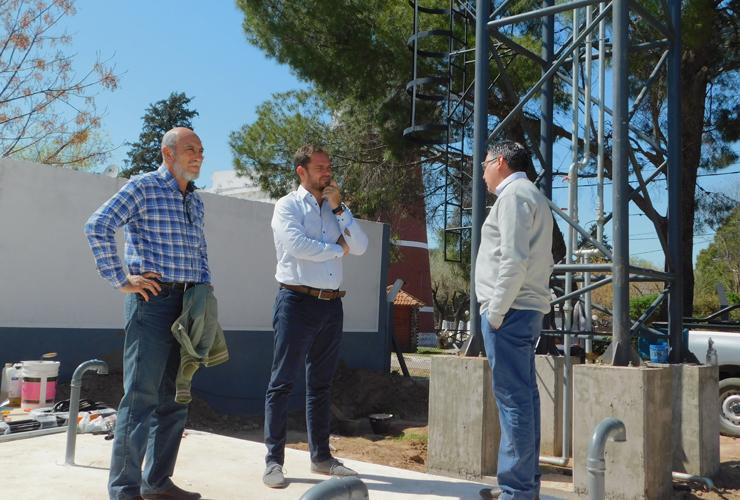 """Tomasevich: """"Esta obra hídrica asegurará el servicio y dará respuesta a la demanda durante el verano"""""""