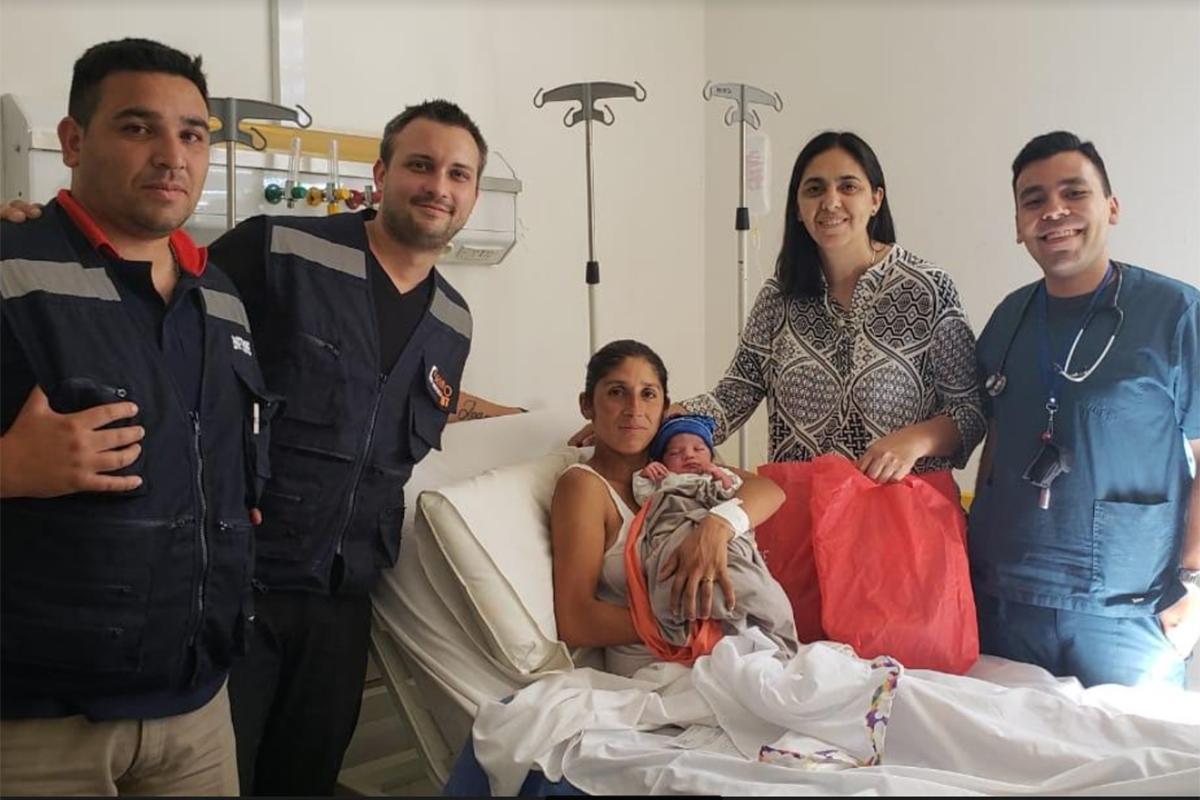 Un apuro con un final feliz: William nació en una ambulancia del SEMPRO