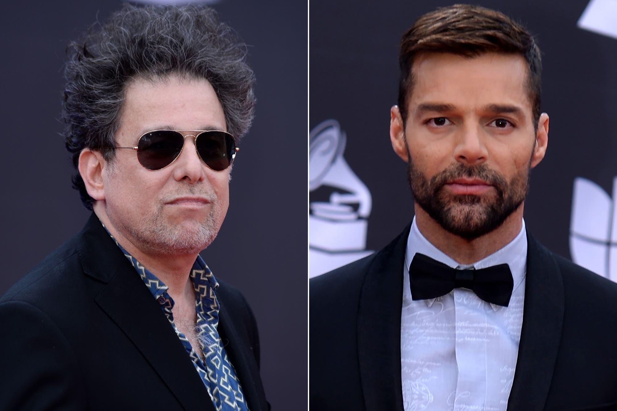 """La afectuosa declaración de Andrés Calamaro a Ricky Martin: """"Hace siglos que quería darte un abrazo"""""""