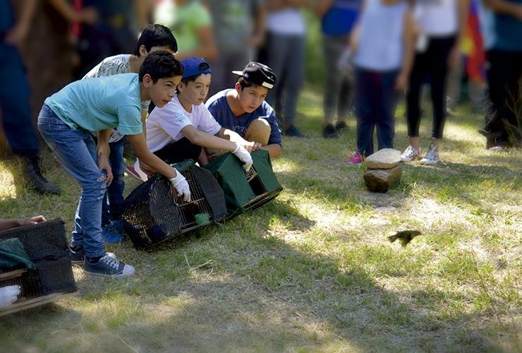 Las Higueritas fue testigo de la última liberación de aves del año