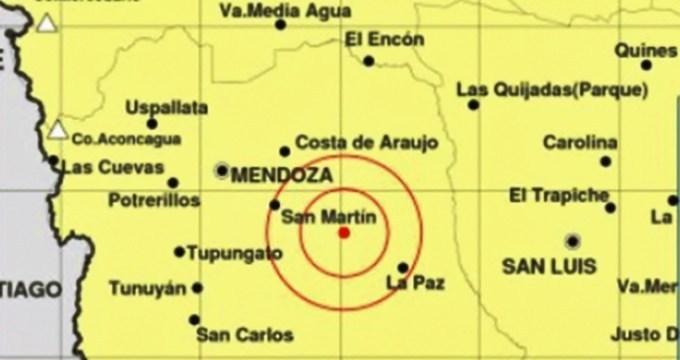 Otro temblor sacudió a Mendoza