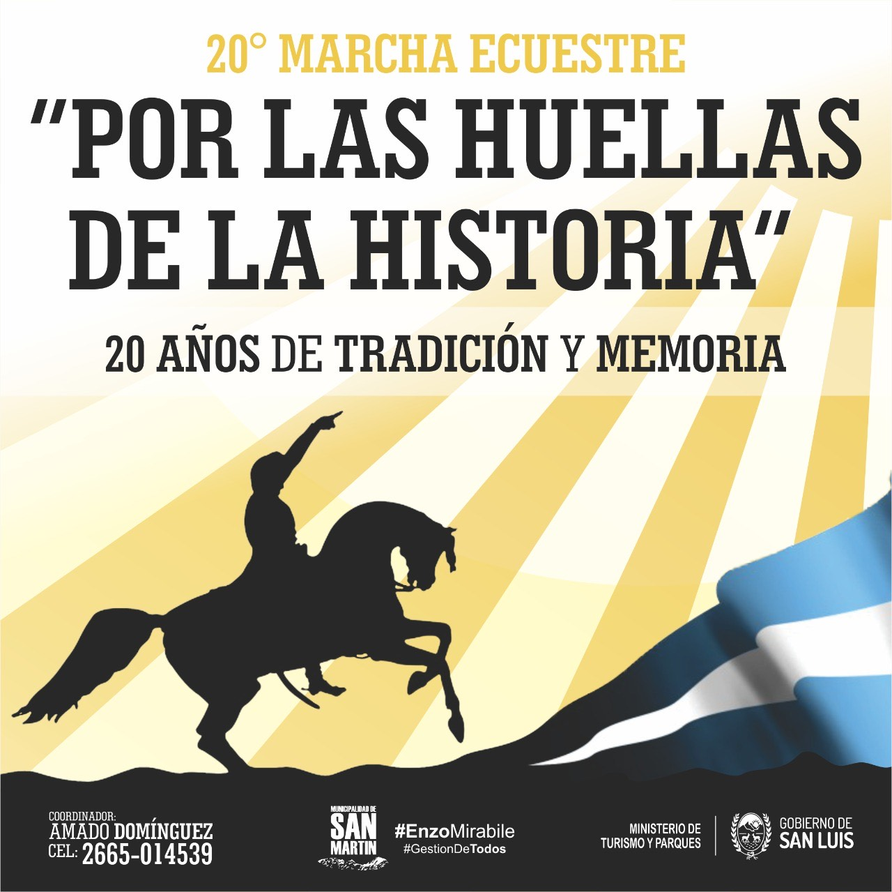 """La 20ª marcha ecuestre """"Por las huellas de la historia"""" llega al Monumento de Las Chacras"""