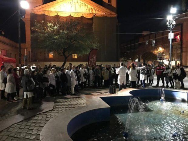 Profesionales de la salud se manifestaron frente a la ola de inseguridad en hospitales