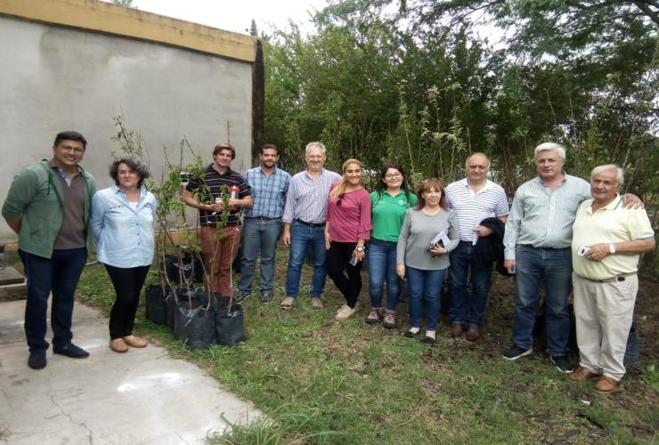 El Gobierno de San Luis entregó más de 200 frutales a la Facultad de Ingeniería y Ciencias Agronómicas de la UNSL