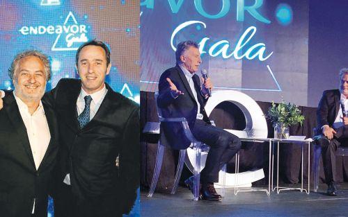 Macri se despidió de sus emprendedores favoritos en una gala