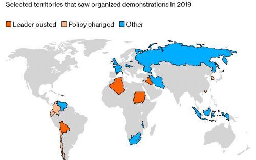 Un año de protestas que provocó cambios en todo el mundo
