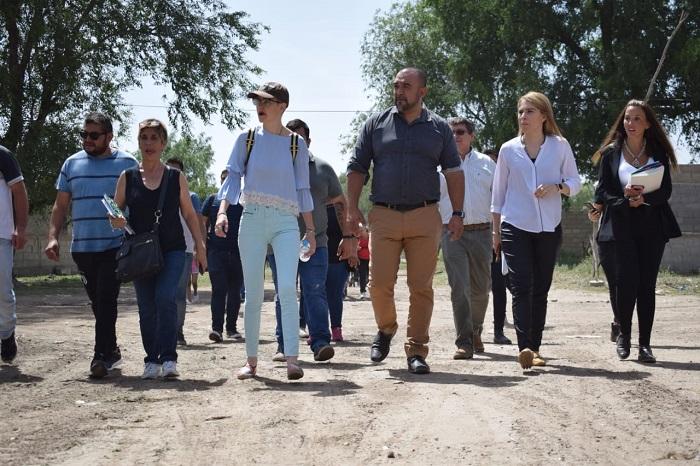 Maximiliano Frontera y su equipo visitaron el barrio San José