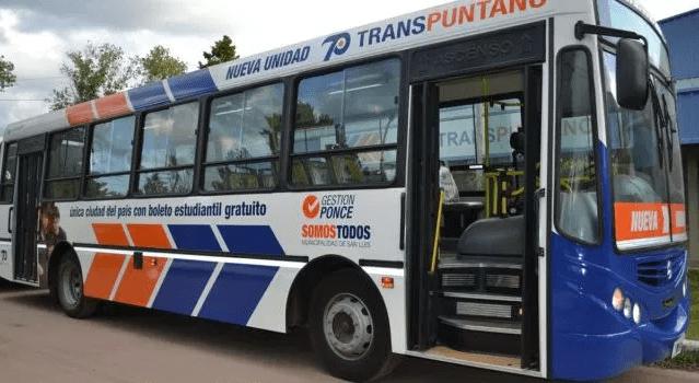 Transpuntano vuelve a prestar servicio: se levantó el paro