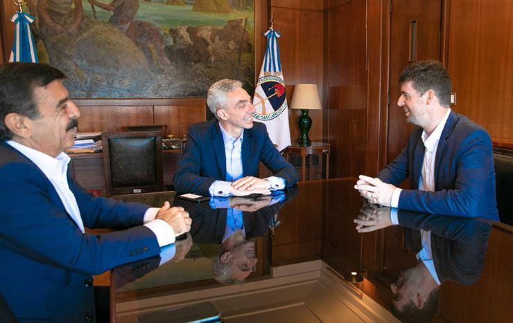 El secretario de Transporte Sebastián Anzulovich se reunió con su par de Nación, Mario Meoni