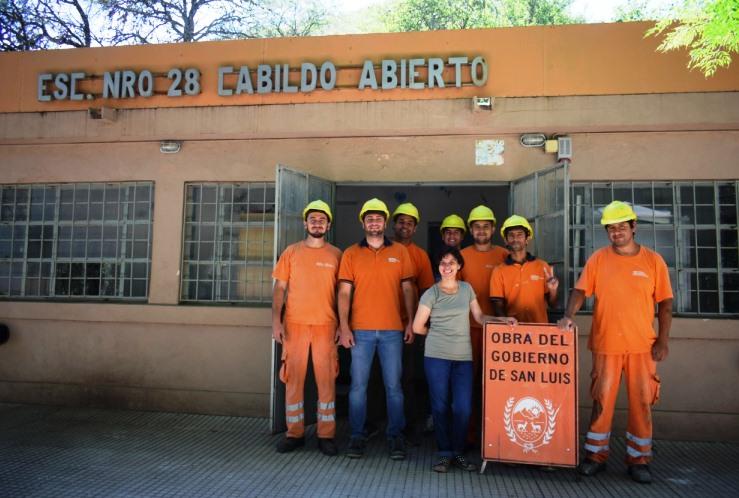Infraestructura Escolar trabaja en el establecimiento de Los Puquios