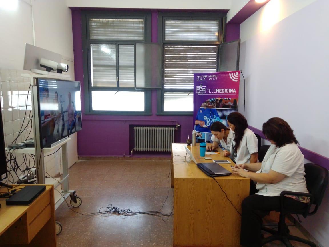 Realizaron dos nuevas consultas de telemedicina en el Hospital San Luis