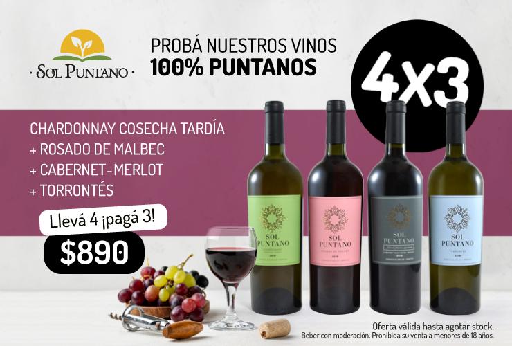 Sol Puntano lanza una oferta de vinos