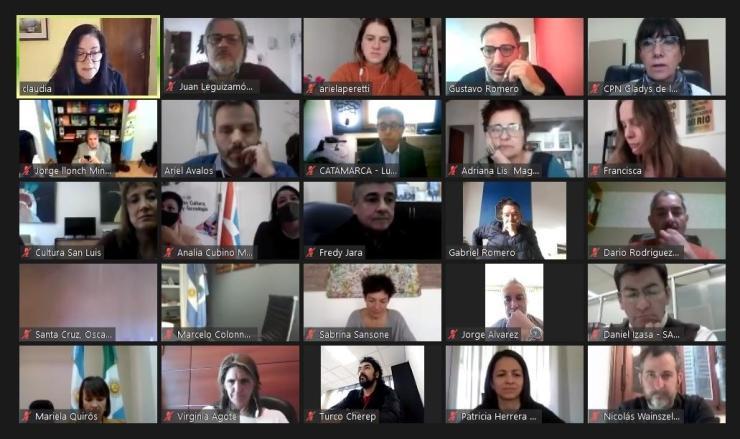 Rapisarda participó de un encuentro virtual con el Consejo Federal de Cultura