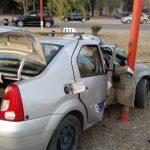 Fuerte accidente en avenida Santos Ortiz: el conductor del taxi falleció en el hospital