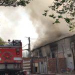 Incendio en un complejo habitacional en calle La Merced