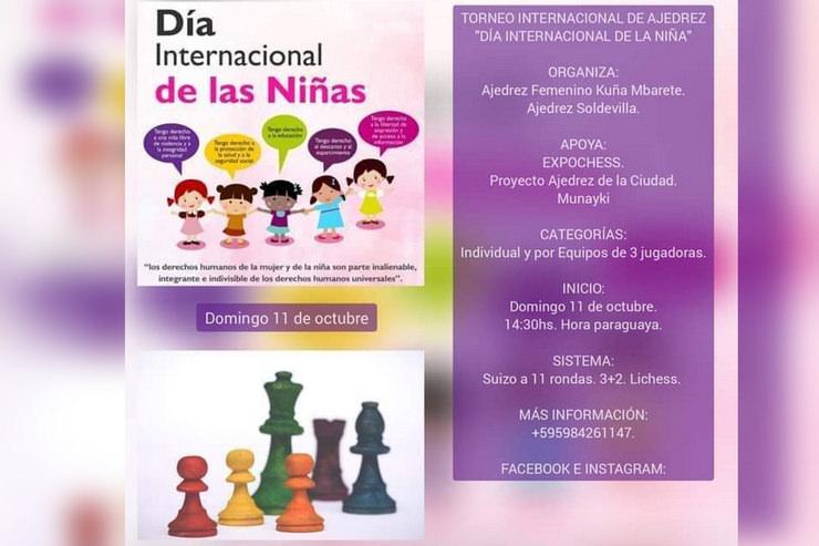 """El ajedrez de la ULP brilló en el """"Día Internacional de la Niña"""""""