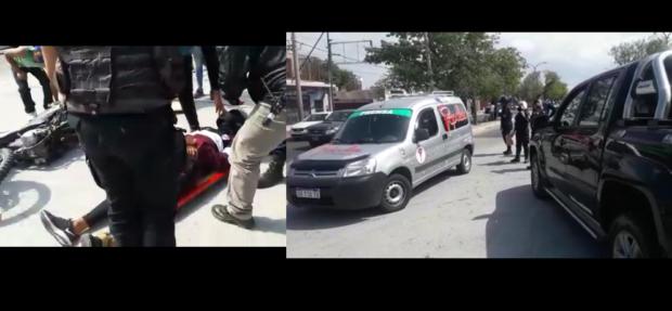 Salud Colapsada: Móvil de radio sirvió de ambulancia para trasladar a un accidentado