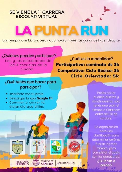 Realizarán una carrera escolar virtual en La Punta