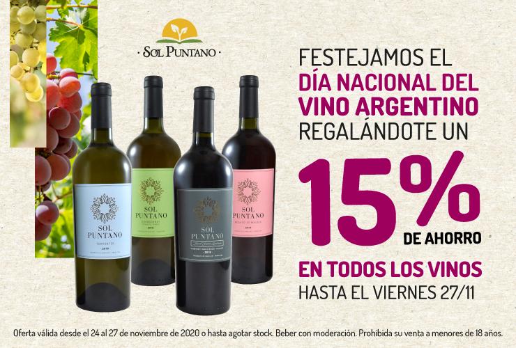 Esta semana Sol Puntano tiene descuento en sus vinos