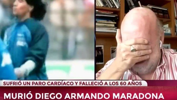 """Murió Diego Maradona: """"Se murió el fútbol"""", el llanto desconsolado de Horacio Pagani"""