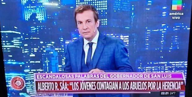 Conmoción nacional por el ataque de Rodríguez Saá a los jóvenes