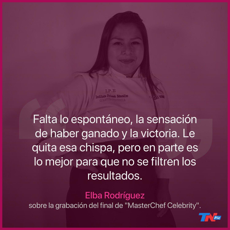 """Elba Rodríguez, la primera ganadora de """"MasterChef"""", opinó sobre la final del certamen de los famosos"""