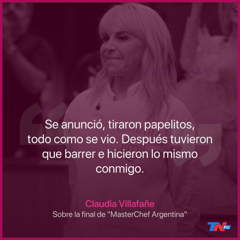 """""""MasterChef Celebirty"""": Claudia Villafañe contó la verdad sobre la final"""