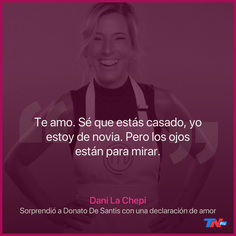 """dani-la-chepi-le-declaro-su-amor-a-donato-de-santis-en-""""masterchef-celebrity"""""""