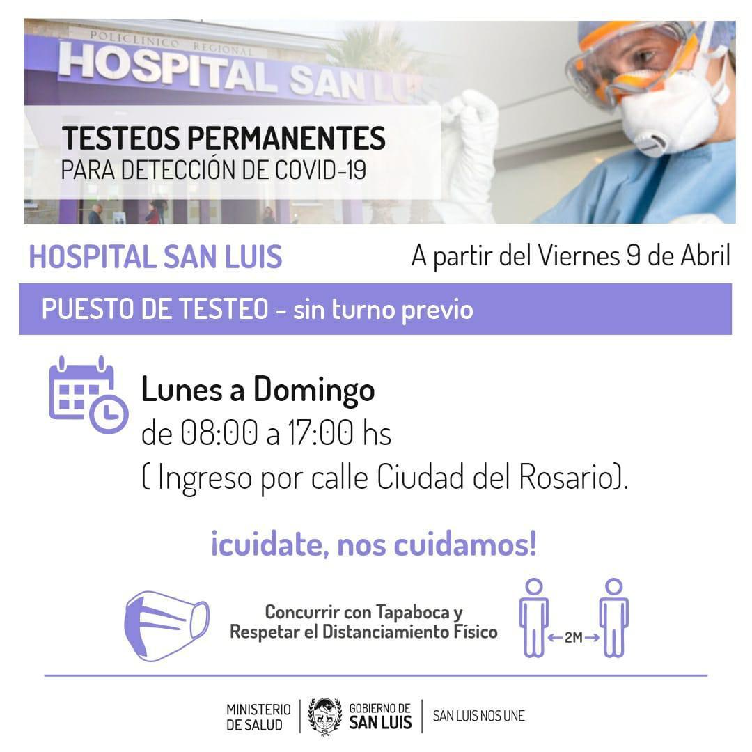 desde-el-viernes-se-amplia-el-horario-de-testeos-en-el-hospital-san-luis